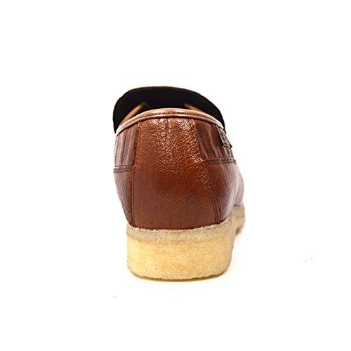 Brittisk Samling - Tegel Slip På Läderskor Brun