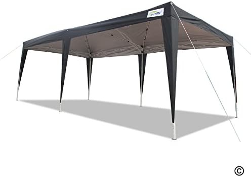 Amazon Com Goutime 10 X 20 Feet Party Event Instant Tent Ez Pop Up Canopy With Removable Sidewalls And Wheeled Bag 10 X 20 Black Garden Outdoor