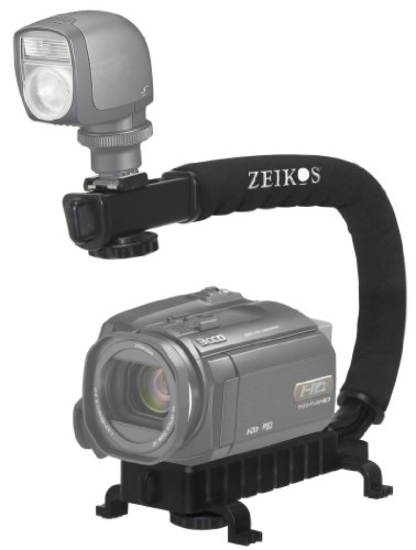 Zeikos ZE-VH26 Deluxe Video Bracket for Camcorders, DSLR Cameras and Point and Shoot Cameras
