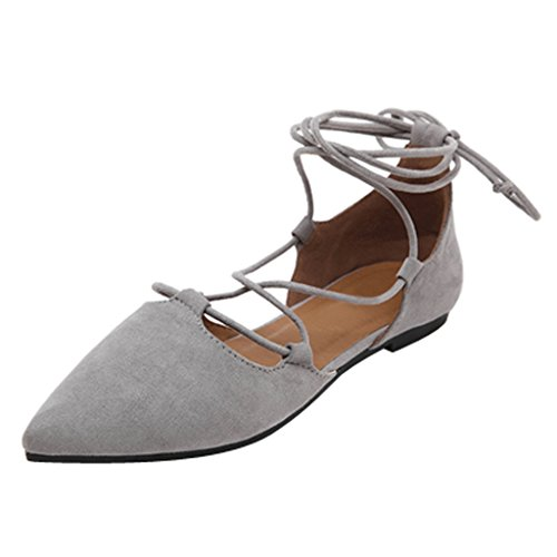 Flats Womens Time On Slip Strap Size Loafers Dear Grey Ballet Plus Ankle Shoes qBgxtUaw5
