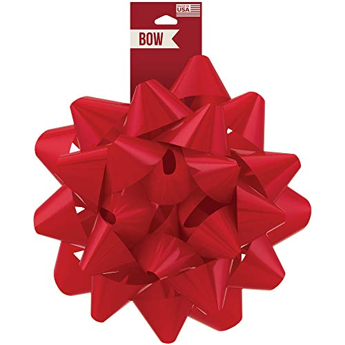 Berwick Offray Large Red Christmas Bow, 8.5