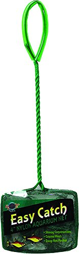 (Blue Ribbon Pet Products ABLEC4C Easy Catch Fish Net, 4-Inch, Coarse Green)