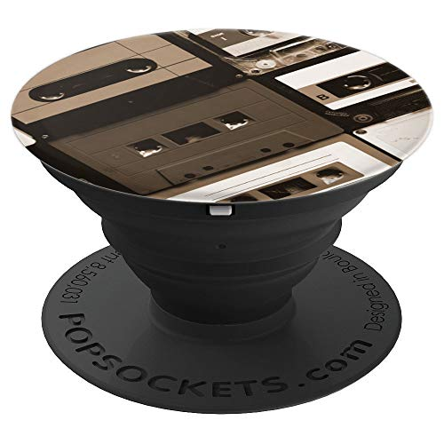 Vintage Retro Tape Cassette Pattern Design - PopSockets Grip and Stand for Phones and - Pattern Cassette