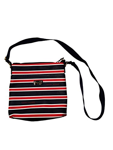 Tommy Hilfiger Signature Medium Crossbody II Purse Handbag (Navy/White/Red Stripe)