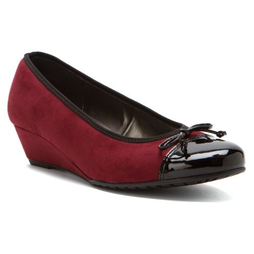 Ara Zapatos De Mujer Nora Pumps Burgundy Nubuck Leather