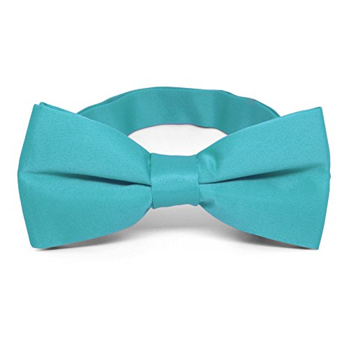 TieMart Turquoise Band Collar Bow Tie