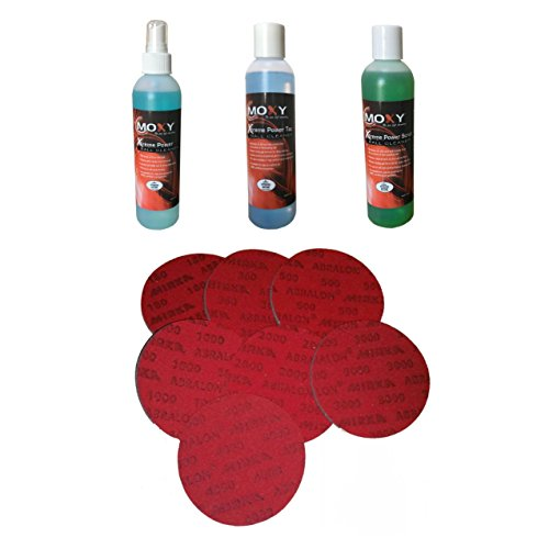 Moxy BSMXYBBCLPKGABR-1 Xtreme Power Bowling Ball Cleaner Package with Abralon Pads Set
