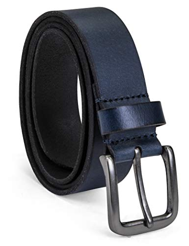 Timberland Men's Classic Leather Jean Belt, Navy, 40 (Denim Leather Belt)