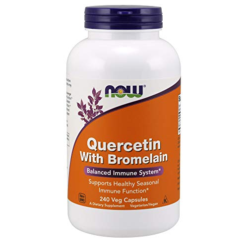 NOW Supplements, Quercetin with Bromelain, 240 Veg Capsules (Best Over The Counter Dog Allergy Medicine)