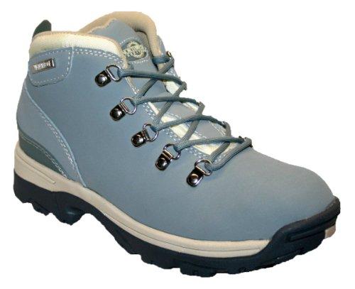 Botas de piel para mujer, ligeras, impermeables, ideales para caminar, senderismo o excursionismo Pale/Blue