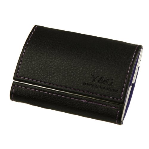 Y&G YDB01A05 Purple Black Business Card Case For Men Relationships Gift For Men