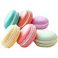Mini macaroons smink smycken förvaring resa örhänge fodral organiserare behållare slumpmässiga färger paket med 6