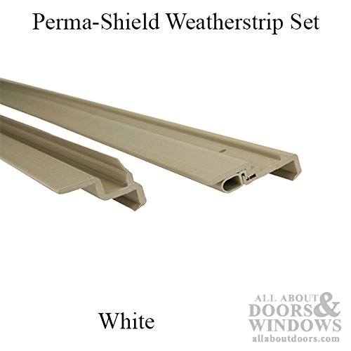Andersen - Perma-Shield Weatherstrip Set, 2 panel Interlock, Operating & Stationary, 8 foot (Window Weatherstrip Set 2 Door)