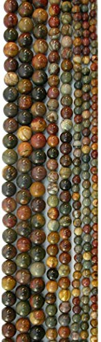 Red Creek Jasper Round Beads, 16in Str ()