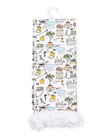Cynthia Rowley Home Decor Kitchen Towels, Gardening Pattern   2 Pack Set