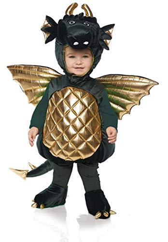 Underwraps Kid's Toddler's Plush Dragon Belly Babies Costume - Green Childrens Costume, Green, Medium -