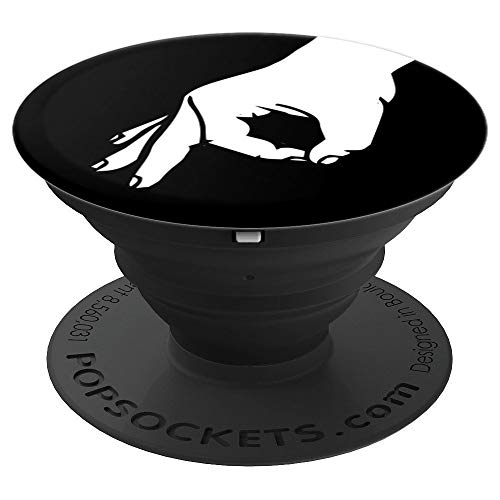Circle Game Sign Pop Socket Hand Finger Player Gift - PopSockets Grip and Stand for Phones and Tablets ()