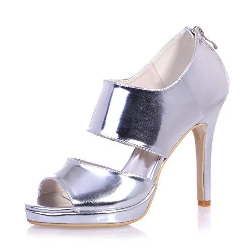 L@YC 5915-26 Frauen High Heels / Peep Toe künstliche Sandalen Hochzeit / Nachtleben & Kleider Rose Gold Weiß