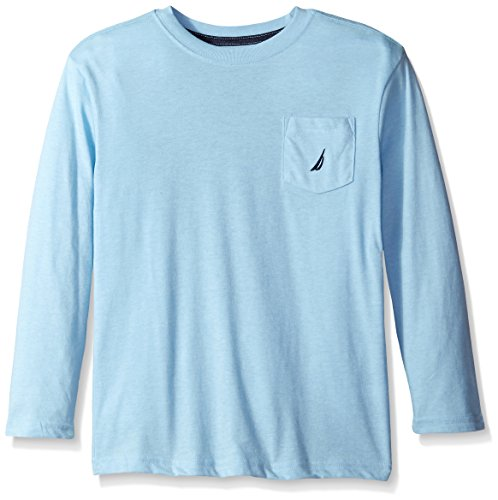 Blue Horizon Long Sleeve (Nautica Big Boys' Long Sleeve Pocket Tee, Horizon Blue, Medium)