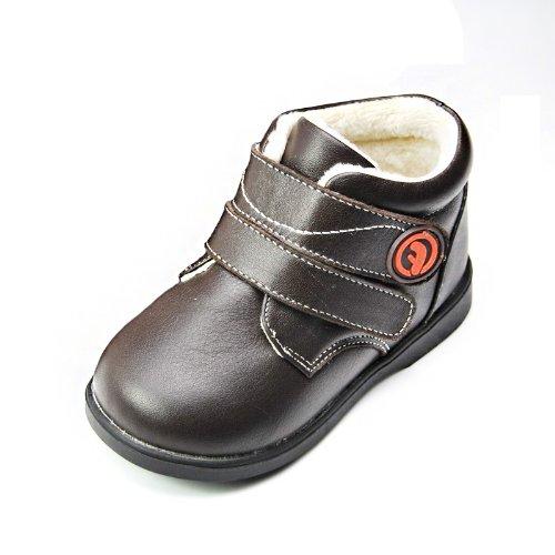 HLT Toddler/Little Kid Boy Warm Comfy Fur Lining Brown Low Boot [US 8 / EU 24]