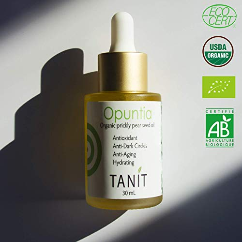 Prickly Pear (Opuntia ficus indica) Seed oil for face, body, hair and nails   Barbary fig oil   Cactus Oil   Organic Certified ECOCERT USDA   100% Pure   Huile figue de barbarie (1/2 Fl Oz) ()