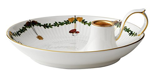 Royal Copenhagen Star Fluted Christmas Candlestick (Copenhagen White Porcelain)