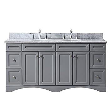 Virtu USA ED 25072 WMRO GR NM Talisa 72u0026quot; Double Bathroom