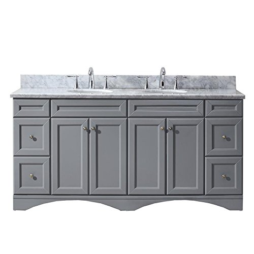 Virtu Usa Ed 25072 Wmro Gr Nm Talisa 72  Double Bathroom Vanity Set  Grey