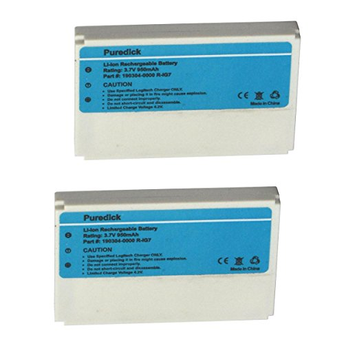 Puredick R-IG7 Battery for Logitech Harmony One, 900, 720, 8