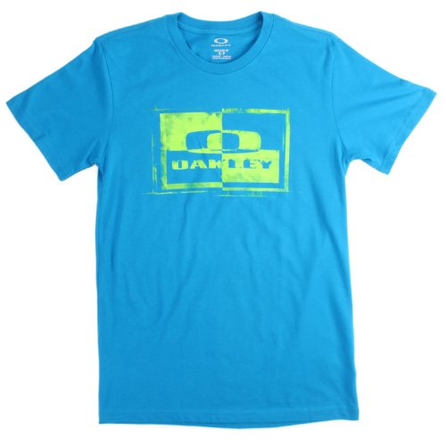 Oakley Men's Block It T-Shirt, Utility Blue, - Twenty Sunglasses Oakley Xx