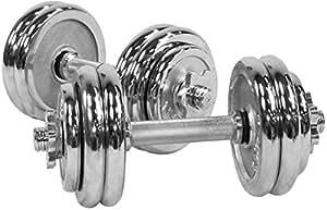 30 Kg Chrome Dumbbell Set, Silver