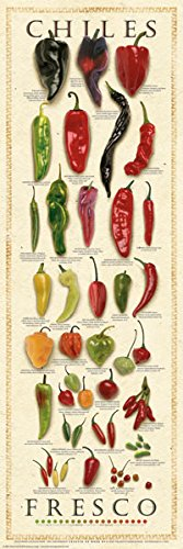 The Great Chile Poster - Chiles Fresco by Ziegler & Keating Kitchen Cooking Print Poster 12x36
