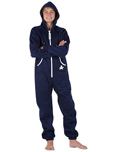 Footed Pajamas Family Matching Oxford Blue Kids...