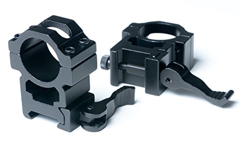 FMT RTAC Quick Release Scope Rings / Quick Release Scope Mount Rings (Scope Mounts / Picatinny Scope Rings / 1 Inch Scope Mount Rings / 1 Inch Scope Rings / Quick Detach Scope / Scope Rings 1 Inch)