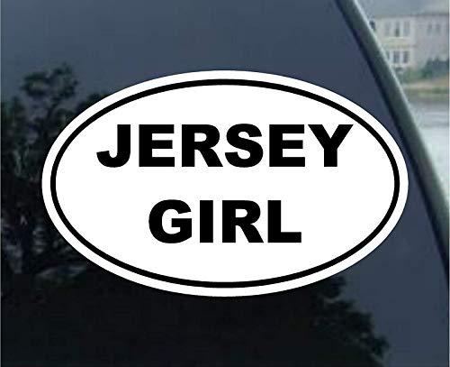 Vinyl Overlays 720 Magnet Jersey Girl Oval Bumper Magnetic Sticker ()
