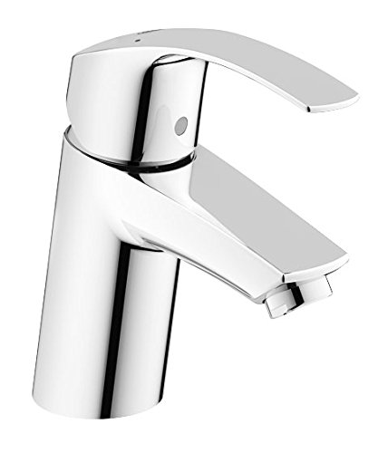 Grohe 32467002 Eurosmart New Single-Lever Basin Mixer Tap without Pop-Up Waste (Grohe Eurosmart Single Lever Bath Shower Mixer)