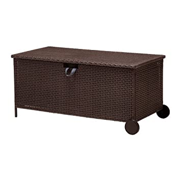 IKEA AMMERO - banco de almacenamiento, marrón oscuro - 124x62x57 cm