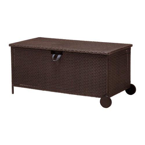 IKEA AMMERO - banco de almacenamiento, marrón oscuro ...