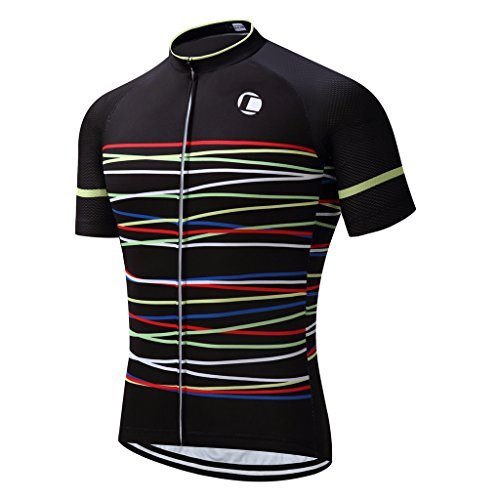 Coconut Ropamo Summer Men Cycling Jersey Road Bike Shirt Short Sleeve Breathable 100% Polyester (Chest 38-40