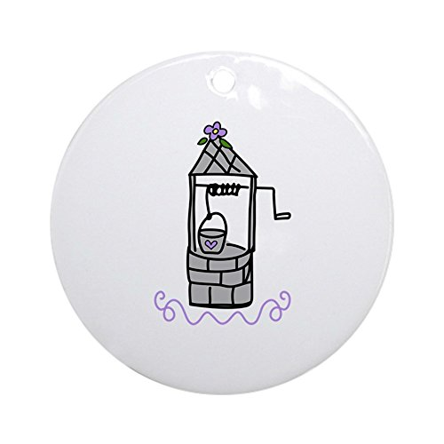 CafePress Wishing Water Well Ornament (Round) Round Holiday Christmas Ornament -