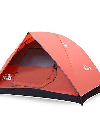 HIIY Zelt ( Rot , 2 Personen ) - Feuchtigkeitsundurchlässig/Wasserdicht/Atmungsaktivität/Regendicht/Winddicht/warm halten