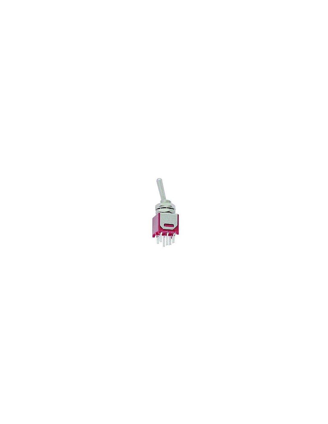Perel 300187Interrupteur à bascule, subminiatur DPDT A électronique E subminiatur DPDT A électronique E