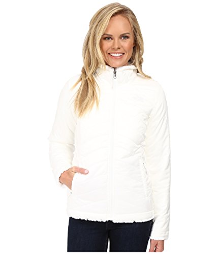 The North Face Girls' Reversible Mossbud Swirl Jacket, TNF White / TNF White (X-Small)