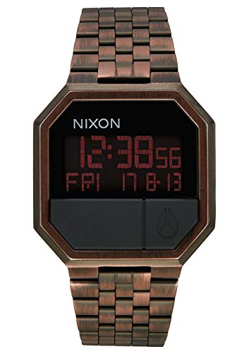 NIXON Re-Run A158 - Antique Copper - 30m Water Resistant Men's Digital Fashion Watch (38.5mm Watch Face, 18mm-13mm Stainless Steel - Antique Mens Watch