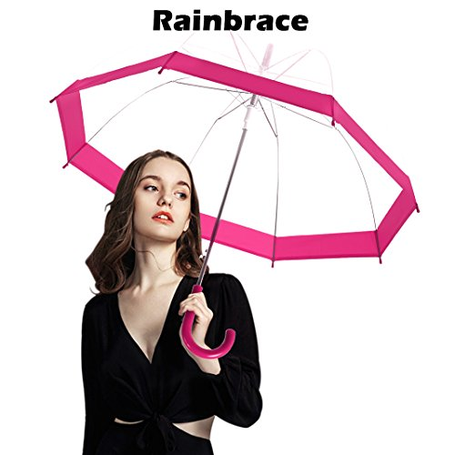 8ed97de2af34 Rainbrace Clear Bubble Umbrella Auto Open Upgraded Version - Import ...