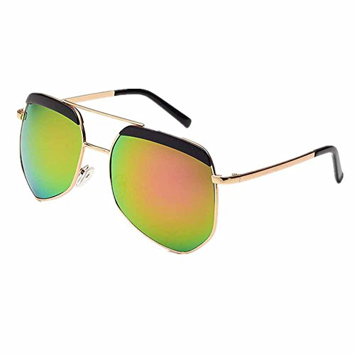 Pink Frame Grey Shaded Lenses (Melodyep Fashion new grey ant Sunglasses female driving mirror(Gold frame Pink)