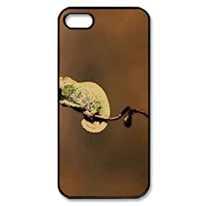 Chameleons Watercolor style Cover iPhone 5 and 5S Case (Reptiles & Frogs Watercolor style Cover iPhone 5 and 5S Case)