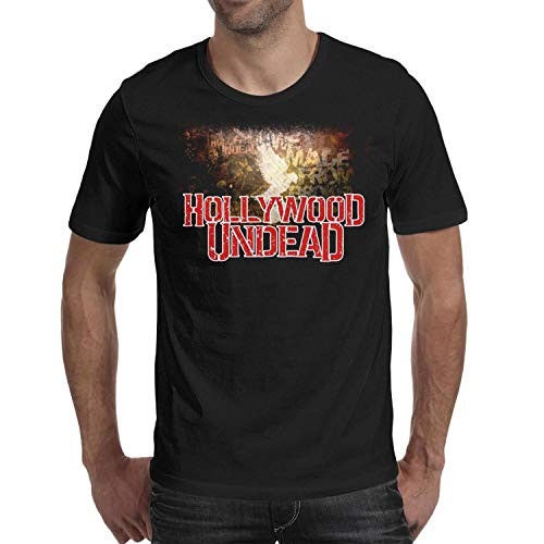 Amsokei 7 Funny Mens T Shirt Hollywood-Undead-Mask- Cotton -