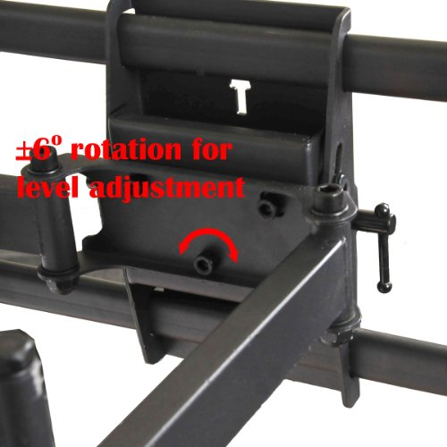"""VideoSecu Articulating Full Motion TV Wall Mount for 32""""-65"""" LED LCD Plasma TVs up to 165 lbs with VESA up to 684x400 mm, Dual Arm pulls out up to 25 Inch, with Leveling Adjustments, Bonus 10 ft HDMI Cable A37"""