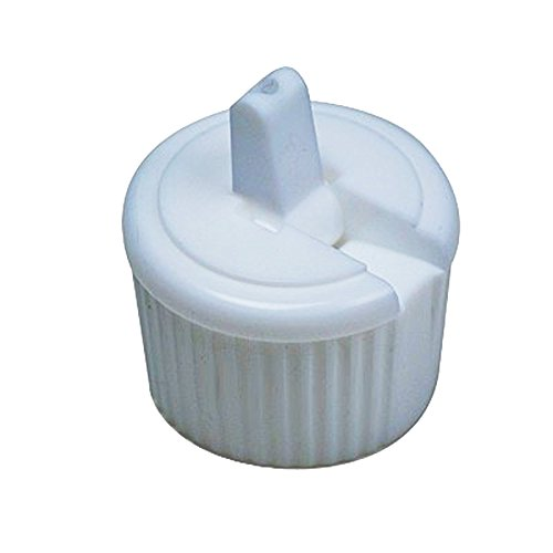 Perfume Studio 24-410 White Ribbed Side Flip Top Liquid Dispensing Cap/Spout (Pack of 24, 2.5mm orifice)
